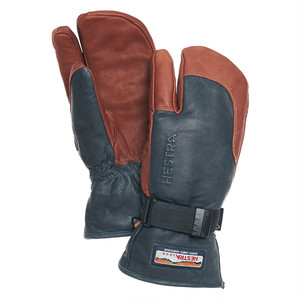 HESTRA GLOVE ヘストラ グローブ 33882 3-FINGER GTX FULL LEATHER Grey/Brown