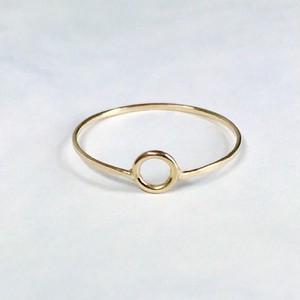 Circle motif ring / K18