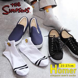 """クセのあるワンポイント シンプソンズ """"ホーマー"""" アンクル ソックス / メンズ ソックス・靴下"""