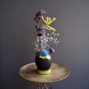 37ボタニカルエッグ【Magical garden】(クールな紫・鮮やかな黄・青)