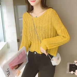 【tops】若見えスカート白効かせトレンドセーター