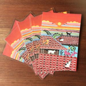 送料無料!5枚組 海猫商店オリジナルポストカード『糸満ぬ猫小(イチマンヌマヤーグワァー)』