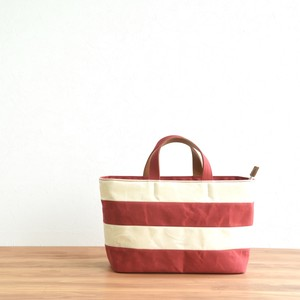WIDE BORDER TOTE FM / RED