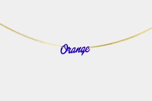 チグハグカラー ブレスレット「Orange」