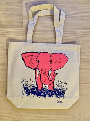 """Tote bag with design of """"Elephant and a barbar"""""""