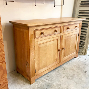 Vintage Solid Oakwood Kitchen Sideboard オランダ