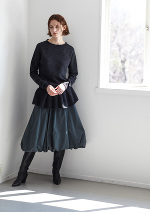 【予約】Taffeta gather skirt