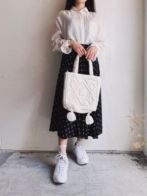 vintage skirt - navy black -