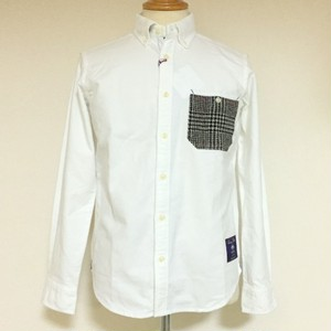 Shaggy Moon Pocket BD Shirts White