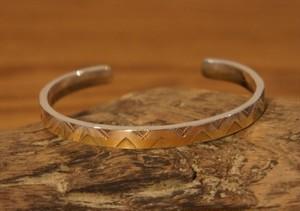 silver & brass bangle 2
