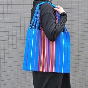 メキシコ織物バッグ(マルチストライプ柄)A