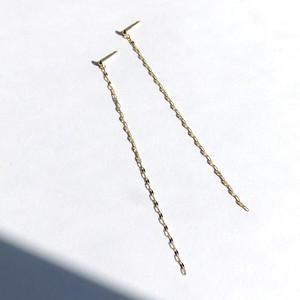 K10YG  Design Chain Pierces / Pair
