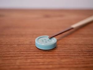 ボタンの箸休め / エメラルドグリーン / 箸置き / 陶器 / 器