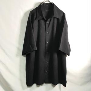 (6)1toneアロハ(ブラック)Silk Shirts