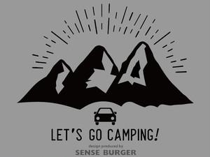 アウトドア LET'S GO CAMPING! キャンピング 山 マウンテン 海 キャンプ キャンピングカー お出かけ outdoor BBQ 黒 ブラック【sti07611blk】