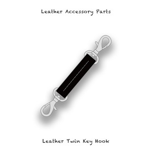 Leather Accessory Parts / Leather Twin Key Hook ( Black )