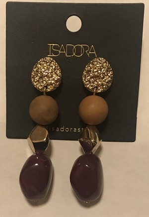 Isadora*wine red stone pierce