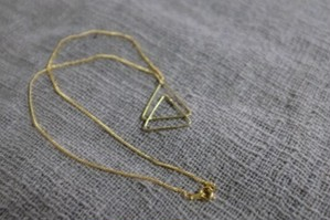 Balance Triangle Necklace -Brass-