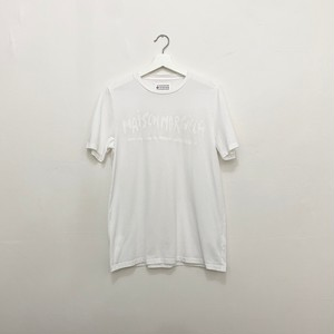 MAISON MARGIELA 10 logo printed and painted tee