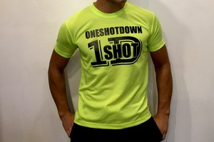 ONESHOTDOWN ネオンカラードライTシャツ