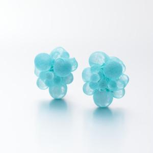 bubble earring blue green