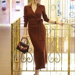 【dress】優雅な印象オトナ女子必見ニットワンピース25506461