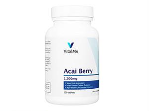 【(バイタルミー) アサイベリー 1200mg】 栄養素を豊富に含むアサイベリーを配合したサプリメントです。成分配合量、内容量ともに充実のお得な120錠入りです。