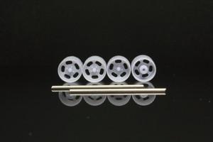 7mm エンケイ ディッシュ タイプ 4穴・5穴・6穴 3Dプリント ホイール 1/64 未塗装