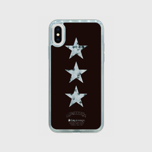 3 STARS MOVING GLITTER SILVER STAR by HRS19.8.0【スマホケース】