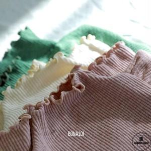 «予約» rib high neck tops 3colors リブハイネックトップス