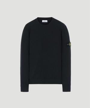 Stone Island L/S Sleeve Knit BLACK 7115591A1