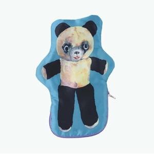 Nathalie Lete Satin animal pouch Stuffed Panda