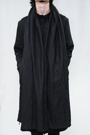 18SS Linen Stole Coat Black