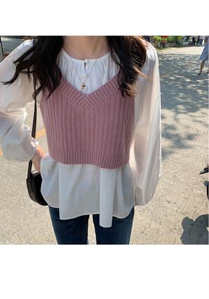 韓国風ニットビスチェ【Korean knit bustier】