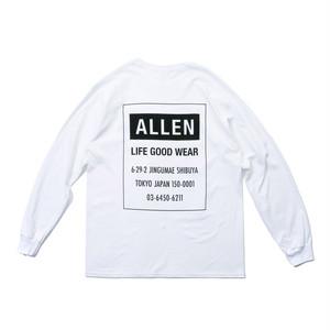 ALLEN LOGO Long T-shirt white