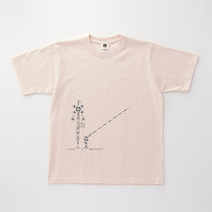 Tシャツ|踏切 ( Baby Pink × Dark Gray )