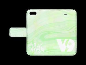 手帳型iPhoneケース【V9グリーン】※受注生産