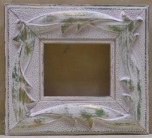 ミニ額15-6740グリーン 額縁寸法55mm×46mm 窓枠寸法43mm×34mm 壁掛け用/箱なし