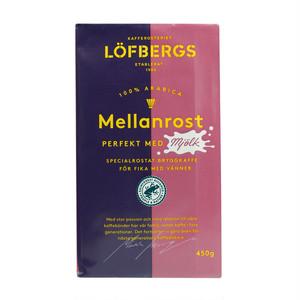 Mellanrost - perfekt med mjölk (ミルクにぴったりのコーヒー) 450g(コーヒー粉・中煎り)  LÖFBERGS