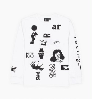 by Parra - a little pressure longsleeve t-shirt (White)