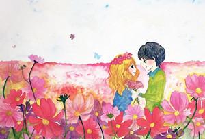 秋桜色のふたり【A4サイズポスター】
