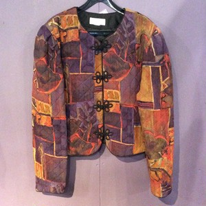 80'S purple quilting design china jacket[B1535]