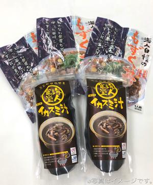【冷凍】もずく丼・イカスミ汁セット