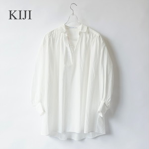 KIJI/キジ・COTTON NEP GATHER BLOUSE