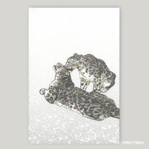 【御朱印帳】おおきい猫帳 [ユキヒョウ・Pair] +ビニールカバー