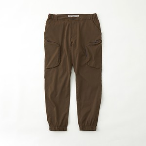 TWILLED STRETCHED JOGGER PANTS - BROWN