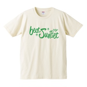 ロゴTシャツ(生成り×緑)