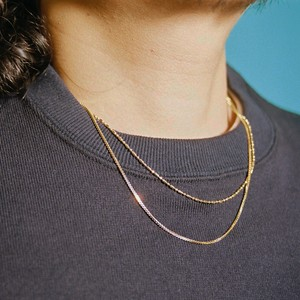 【SET1-4】gold filled chain necklace set -2 pairs