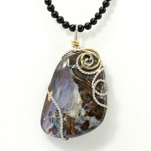 Silver 天然石 ネックレス ボルダーオパール 30017-000(N1168) NAGZ ウ