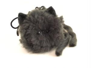 【石榴屋・夜夜】z-006N モフモフ猫又黒